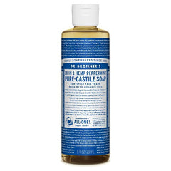 Dr.Bronner's - 18-in-1 Peppermint Liquid Castile Soap 8oz