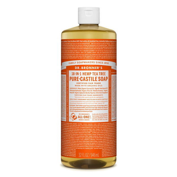Dr.Bronner's - 18-in-1 Tea Tree Liquid Castile Soap 32oz