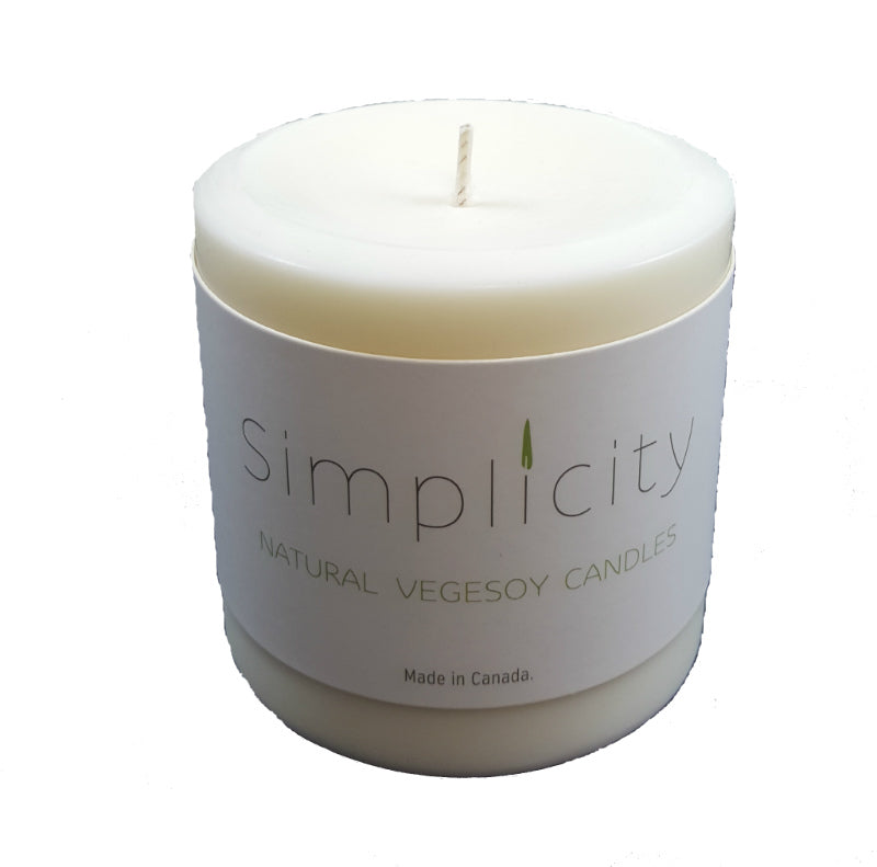 E3 Naturals Simplicity 3 Inch Soy Wax Pillar Candle All Things Being Eco