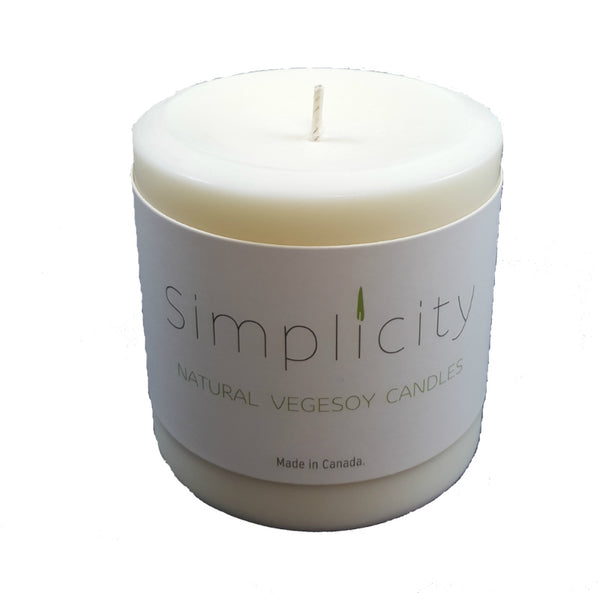 E3 Naturals - Simplicity 3 Inch Soy Wax Pillar Candle
