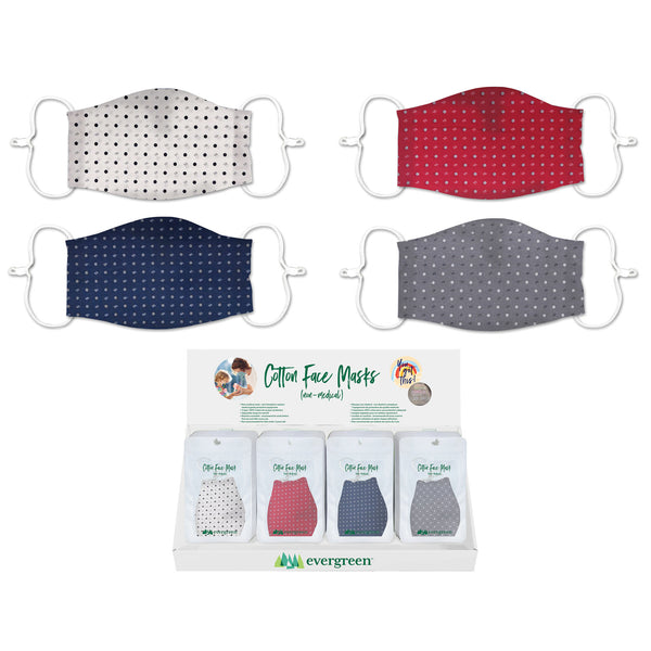 Evergreen - Adult Cotton Face Mask Dots