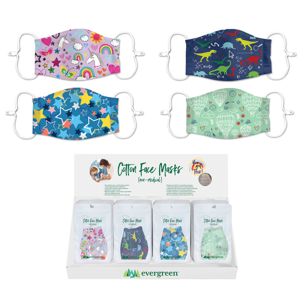 Evergreen - Kids Cotton Face Mask Prints