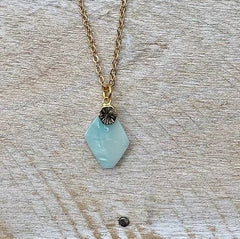 Frug Jewellery - AALTO Semi Precious Diamond Pendant Necklace