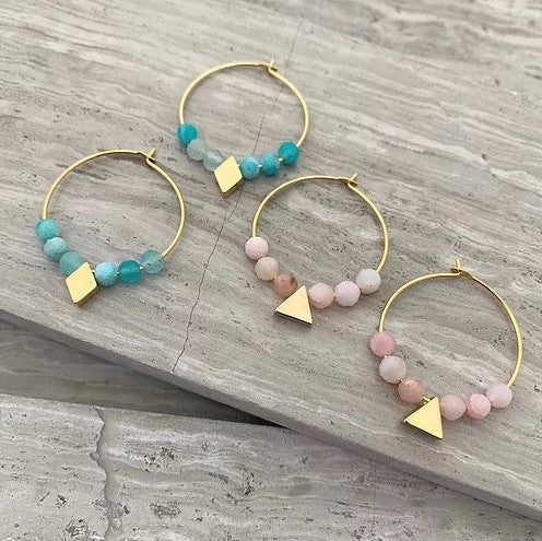 Frug Jewellery - ANSGAR Semi Precious Hoop Earrings
