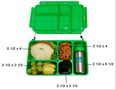 Go Green - 5 Compartment Leak-Proof Food Box Bento Box All Things Being Eco Chilliwack Green
