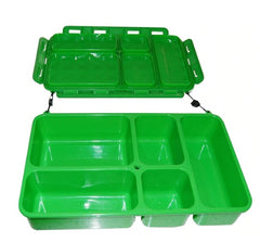 Go Green - 5 Compartment Leak-Proof Food Box Bento Box All Things Being Eco Chilliwack Zero waste Refillery Since 2008