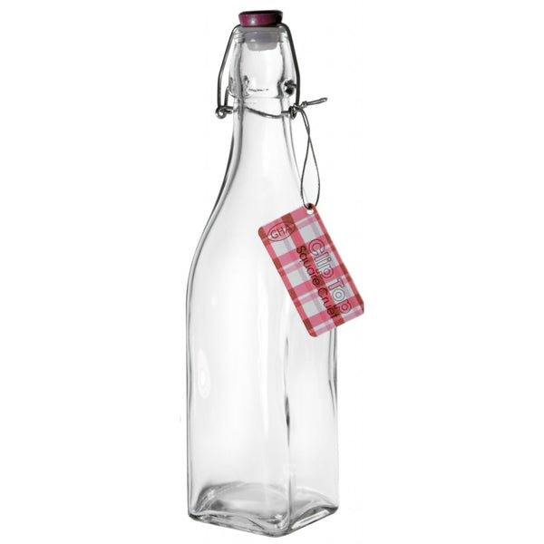 Grant Howard - 500ml. Glass Clip Top Bottle Reusable Zero Waste Containers All Things Being Eco