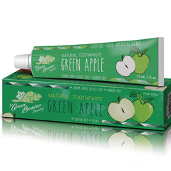 The Green Beaver Company - Natural Toothpaste Green Apple All Things Being Eco