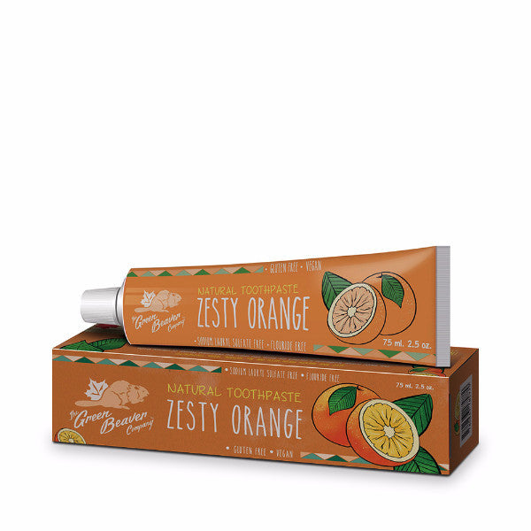 The Green Beaver Company - Natural Toothpaste Zesty Orange