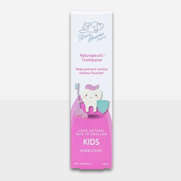 The Green Beaver Company - Naturapeutic Toothpaste - Kids Bubblegum All Things Being ECO Chilliwack