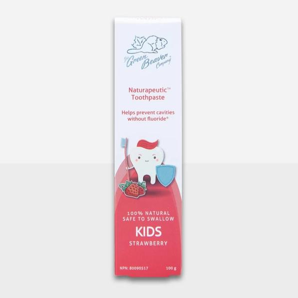 The Green Beaver Company - Naturapeutic Toothpaste - Kids Strawberry All Things Being Eco Chilliwack