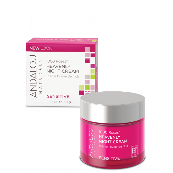 Andalou Naturals - Sensitive - 1000 Roses Heavenly Night Cream
