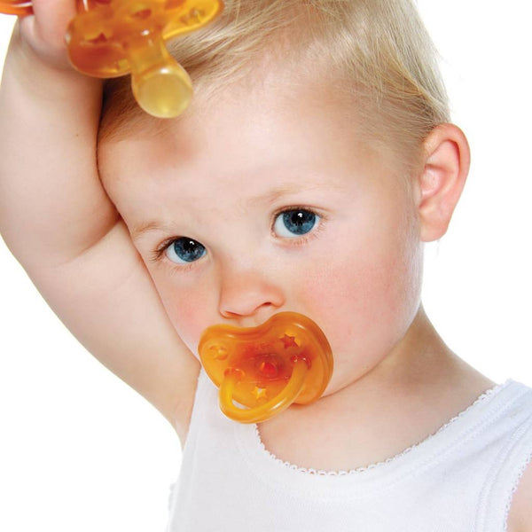 Hevea - Natural Rubber Star & Moon Orthodontic Pacifier