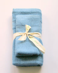 Hiltech Bamboo - 100% Bamboo Small Towel Sets All Things Being Eco Chilliwack Bamboo Towels Blue
