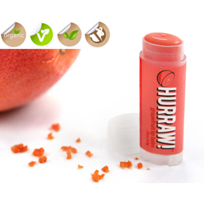 Hurraw - Vegan Non-GMO Organic Grapefruit Lip Balm All Things Being Eco