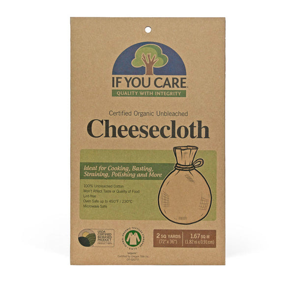 If You Care - 100% GOTS Certified Organic Cotton Unbleached Cheesecloth Zero Waste