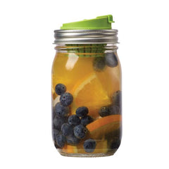 Jarware - Mason Jar Fruit Infusion Lid All THings Being Eco Zero Waste Living Chilliwack