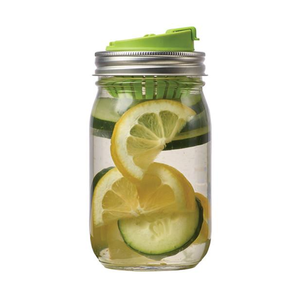 Jarware - Mason Jar Fruit Infusion Lid All THings Being Eco Zero Waste Living