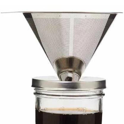 Jarware - Mason Jar Pour Over Coffee Filter And Stand All Things Being Eco Chilliwack
