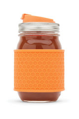 Jarware - Mason Jar Silicone Honeycomb Protector Sleeves