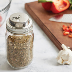 Jarware - Mason Jar Stainless Steel Spice Lid All Things Being Eco Chilliwack