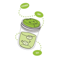 Jarware - Mason Jar Wide Mouth Drink Lid All Things Being Eco Chilliwack Zero Waste Living Specialty Store