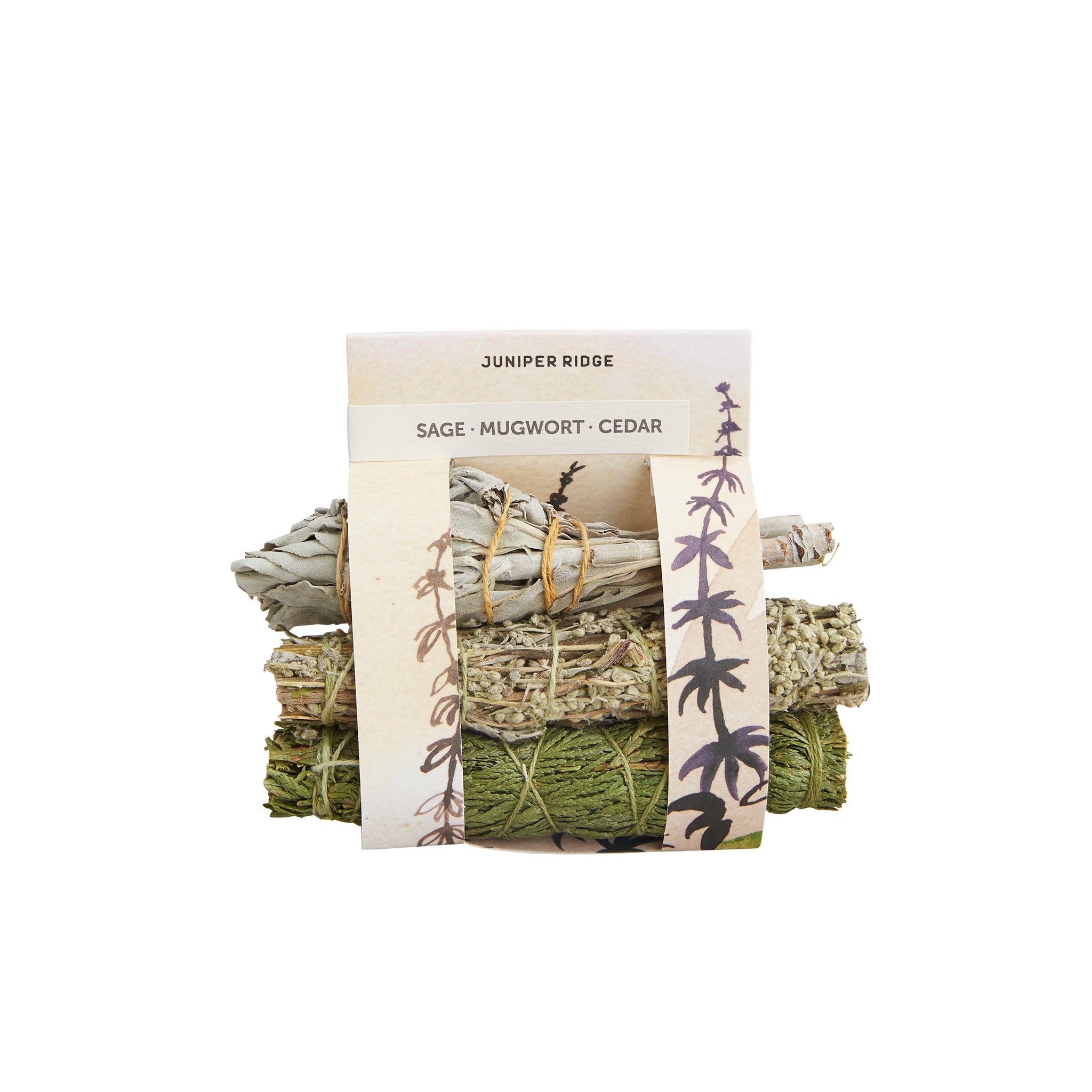 Juniper Ridge - Sage, Mugwort + Cedar Mini Bundle Smudge Sticks