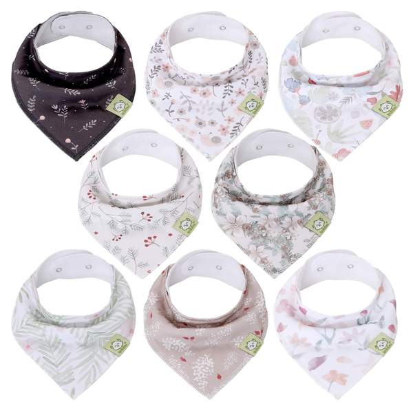 KeaBabies - Organic Cotton Baby Bandana Bib Set Bloom All Things Being Eco