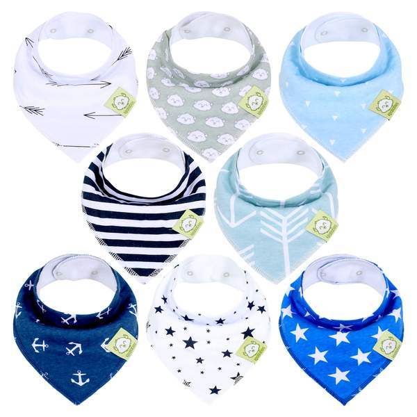 KeaBabies - Organic Cotton Baby Bandana Bib Set Adventurer All Things Being Eco