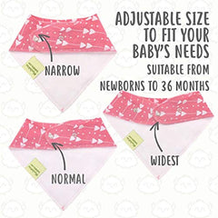 KeaBabies - Organic Cotton Bandana Bib Set Pink Dreams Sustainable Baby Clothing All Things Being Eco
