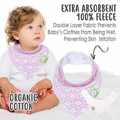 KeaBabies - Organic Cotton Bandana Bib Set Pink Dreams All Things Being Eco