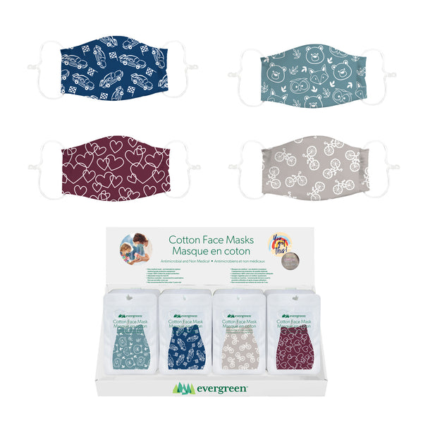 Evergreen - Kids Antimicrobial Print Face Mask