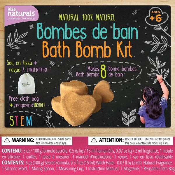Kiss Naturals - DIY Bath Bomb Kit Homeschool Projects All Things Being Eco