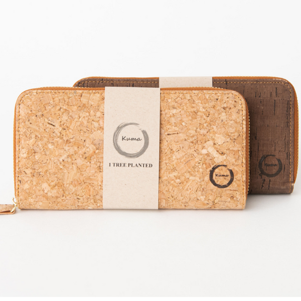 Kuma Eyewear- Cork Clutch Wallet Natural Purses All Things Being Eco