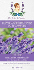 Les Jardins de Jacqueline - Organic Hydrasol Aromatherapy Spray 8oz All Things Being Eco Lavender
