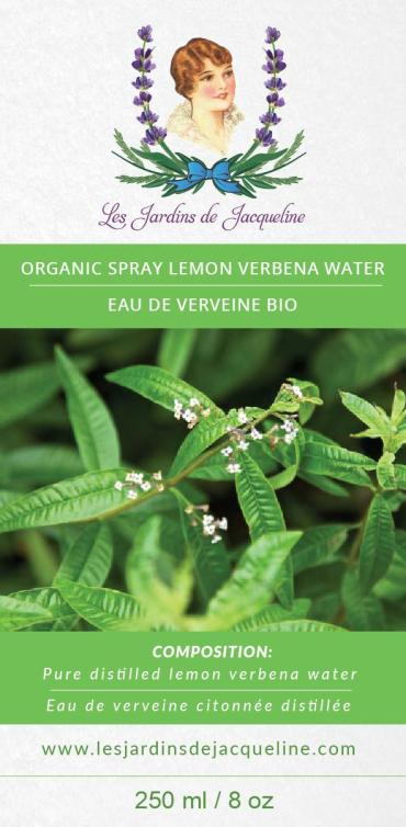 Les Jardins de Jacqueline - Organic Hydrasol Aromatherapy Spray 8oz All Things Being Eco Lemon Verbena