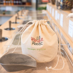 Life Without Plastic - Organic Cotton Flat-Bottom Bulk Bag - Medium All Things Being Eco Chilliwack Zero Waste Living Specialty Store Since 2008