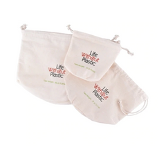 Life Without Plastic - Organic Cotton Flat-Bottom Bulk Bag - Medium All Things Being Eco Chilliwack Zero Waste Since 2008 Organic Cotton