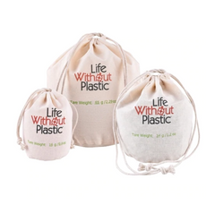 Life Without Plastic - Organic Cotton Flat-Bottom Bulk Bag - Medium All Things Being Eco Chilliwack Zero Waste Since 2008
