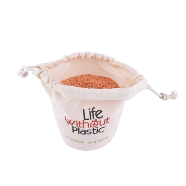 Life Without Plastic - Organic Cotton Flat-Bottom Bulk Bag - Small