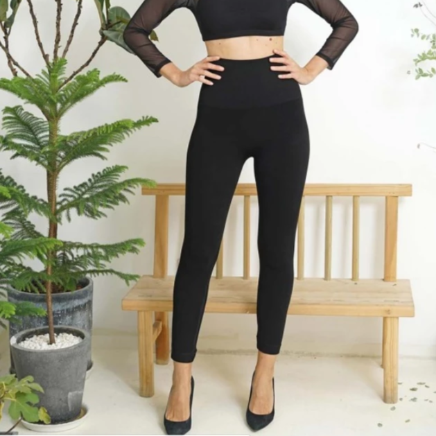 Orange - Highest Waist One Size Leggings All Things Being Eco Chilliwack Bamboo Clothing
