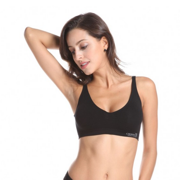 Orange - Bamboo Shaper Crop Bra