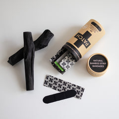 Patch - Activated Charcoal Organic Bamboo Bandages Vegan First Aid All Things Being Eco