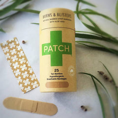 Patch - Aloe Vera Organic Bamboo Bandages Cruelty Free Vegan First Aid All Things Being Eco