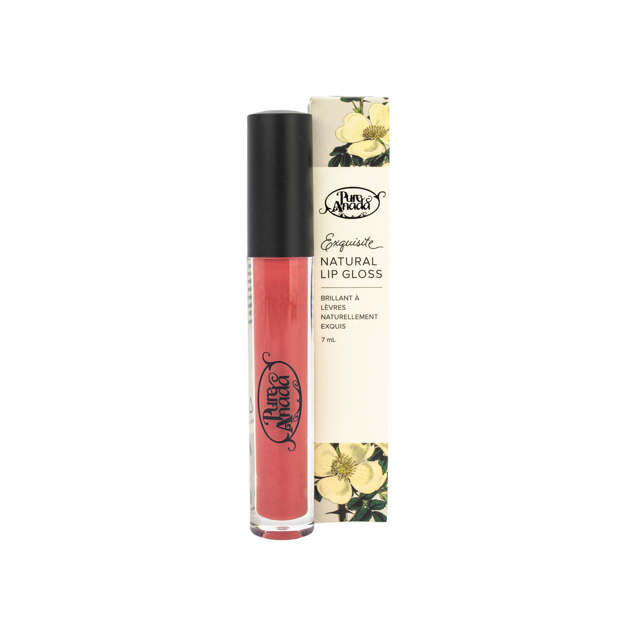 Pure Anada - Exquisite Natural Matte Lip Gloss Pomegranate All Things Being Eco Chilliwack Organic Makeup