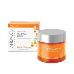Andalou Naturals - Brightening - Probiotic + C Renewal Cream Organic Skin Care