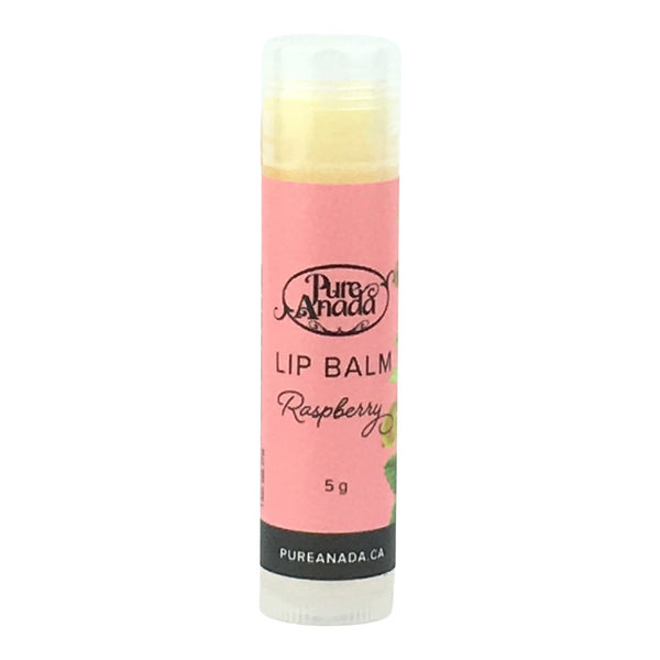 Pure Anada - Raspberry Lip Balm Canadian Made Organic Lip Care All Things Being Eco