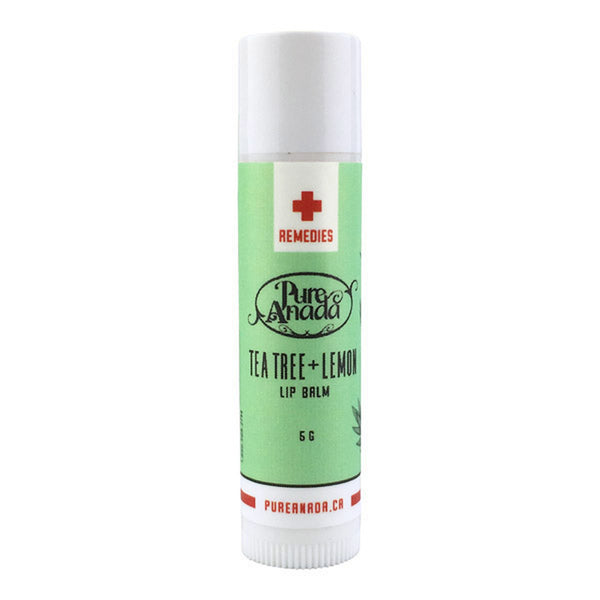 Pure Anada - Tea Tree & Lemon Lip Balm Organic Skin Care All Things Being Eco Chilliwack