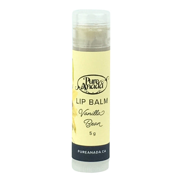 Pure Anada - Vanilla Bean Lip Balm Canadian Made Organic Skin Care All Things Being Eco Chilliwack