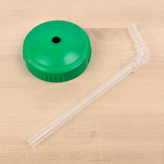 Re-Play - Kelly Green Sippy Cup Straw and Cup Lid Adaptor All Things Being Eco